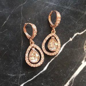 Givenchy Rose-Gold Orbital Pavé Drop Earrings